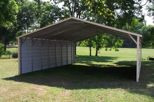 enclosed metal carport