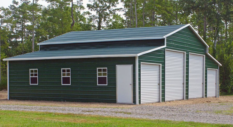 Pole buildings steel pole buildings newmart builders inc for Diy garage cost