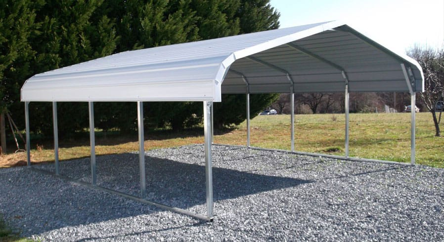 large industrial storage barn metal structure carport