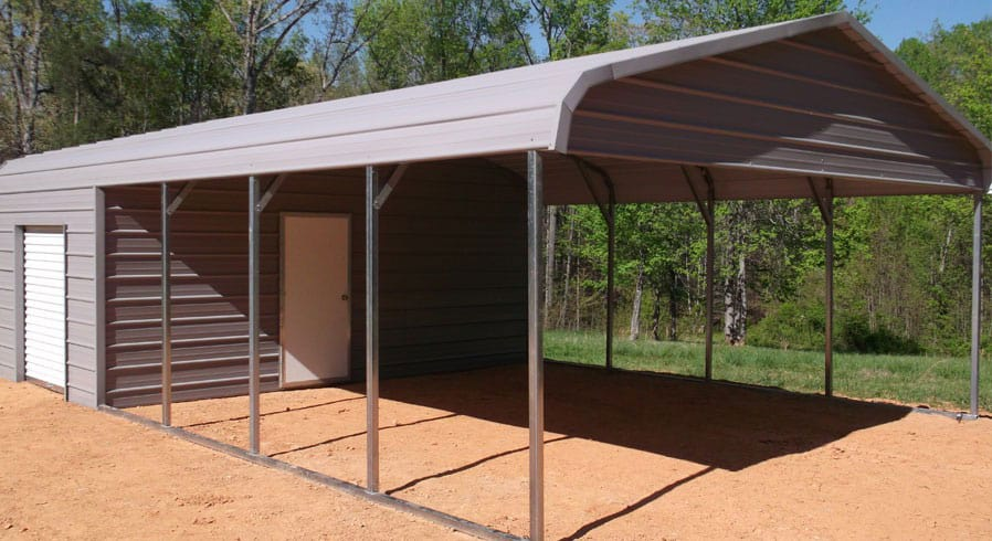 metal roof garage and carport