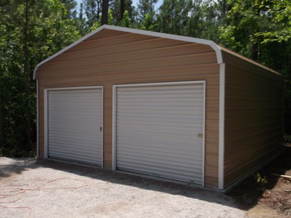 Bent Bow Garage with two roll up doors Item # 54