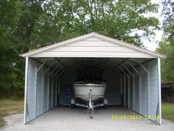 A-Frame Boat Cover with sides and back closed, one gable Item #2