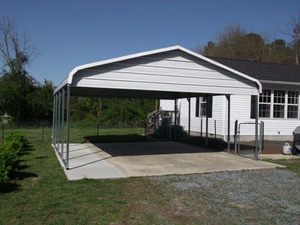 Bent Bow Carport with both gables closed Item # 14