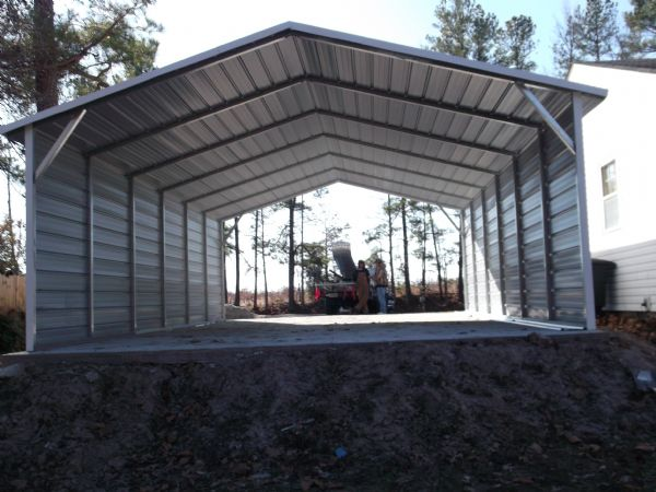 A Frame Carport with both sides closed Item # 66