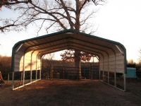 Bent Bow carport with one sheet on each side #17