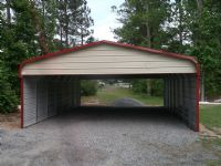 Bent Bow carport with sides closed and 2 gables Item #18