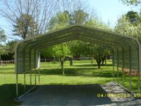 Bent Bow carport with one sheet on each side Item # 44